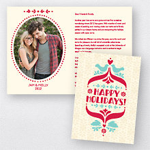 Folk Tales: Folded Holiday Photo Card