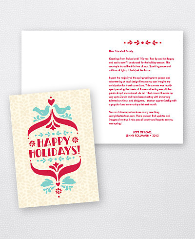 Folk Tales Folded Holiday Card