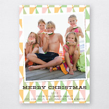 Geometric Trees: Holiday Photo Card