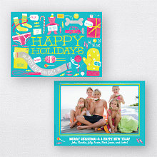 Gifts Galore Turquoise: Holiday Photo Card