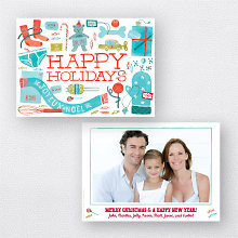 Gifts Galore White: Holiday Photo Card