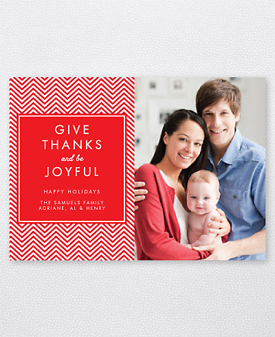 Give Thanks Holiday Photo Card