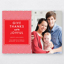 Give Thanks: Holiday Photo Card