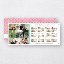 Happy New Year Calendar: Holiday Photo Card