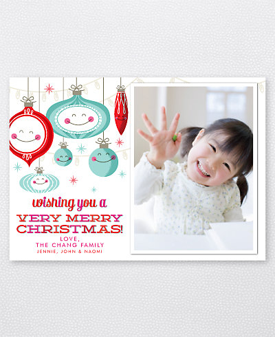 Happy Ornaments Holiday Photo Card