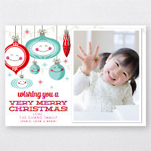 Happy Ornaments: Holiday Photo Card