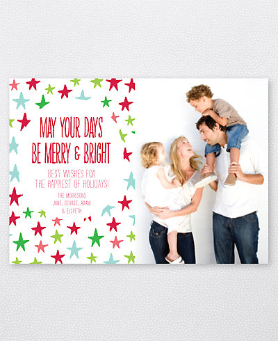 Happy Stars Holiday Photo Card