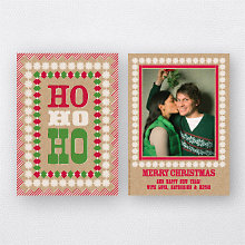 Ho Ho Ho: Christmas Photo Card
