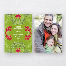 Holiday Boughs Holiday Photo Card