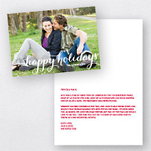 Holiday Calligraphy: Folded Holiday Photo Card