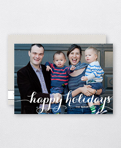 Holiday Calligraphy Holiday Photo Card