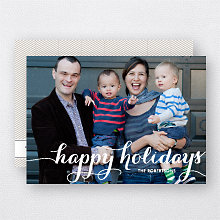 Holiday Calligraphy: Holiday Photo Card