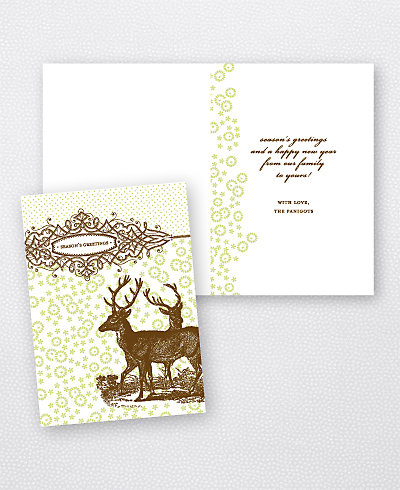 Holiday Deer Holiday Card