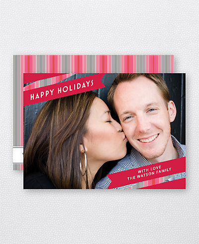 Holiday Ribbon Holiday Photo Card