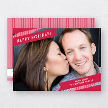 Holiday Ribbon: Holiday Photo Card