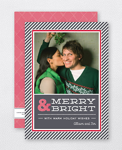 Holiday Stripes Holiday Photo Card
