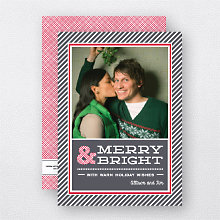 Holiday Stripes: Holiday Photo Card