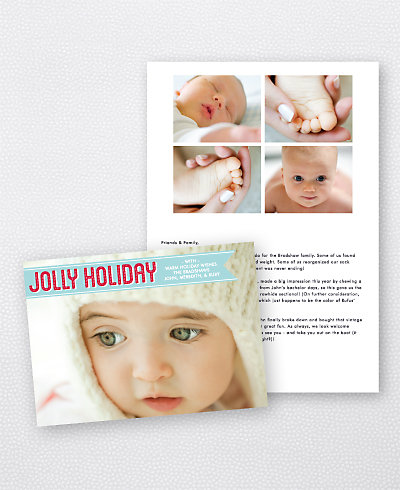 Jolly Holiday Folded Holiday Photo Card