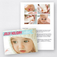 Jolly Holiday: Folded Holiday Photo Card
