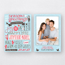 Joyful Greetings Blue: Holiday Photo Card