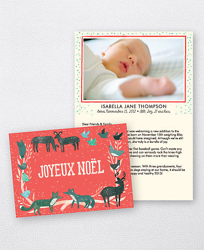 Joyeux Noel Red Folded Holiday Photo Card