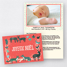 Joyeux Noel Red: Folded Holiday Photo Card
