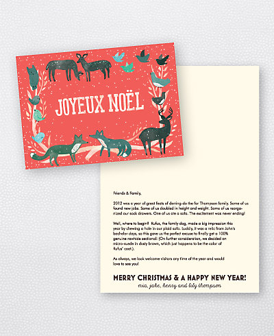Joyeux Noel Red Folded Holiday Card