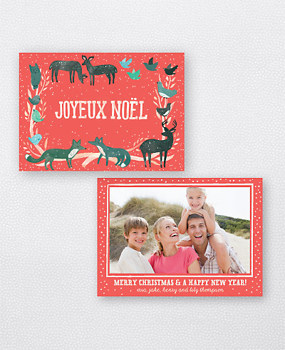 Joyeux Noel Red Holiday Photo Card