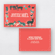Joyeux Noel Red: Holiday Card