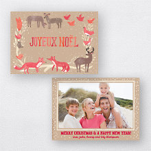 Joyeux Noel Tan: Holiday Photo Card