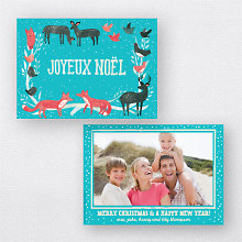 Joyeux Noel Turquoise: Holiday Photo Card