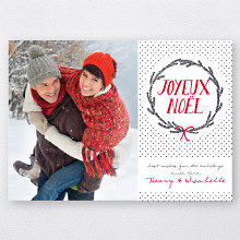 Joyeux Wreath: Holiday Photo Card