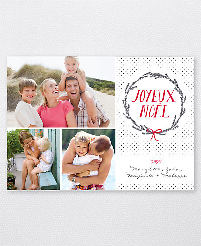 Joyeux Wreath Holiday Photo Card