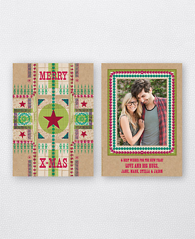 Merry Christmas Star Holiday Photo Card