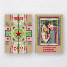 Merry Christmas Star: Christmas Photo Card