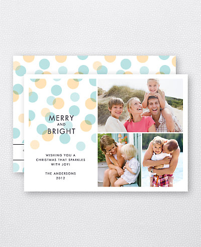Merry Dots Holiday Photo Card