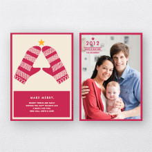 Merry Mittens: Holiday Photo Card