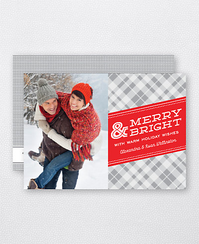Merry Plaid Holiday Photo Card