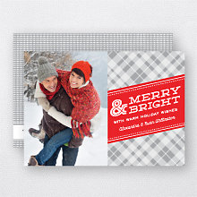 Merry Plaid: Holiday Photo Card