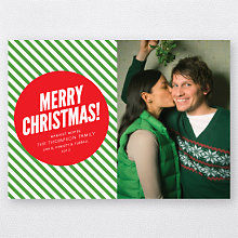 Merry Christmas Stripes: Holiday Photo Card