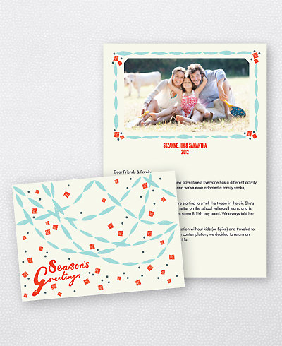 Paper Chains Folded Holiday Photo Card