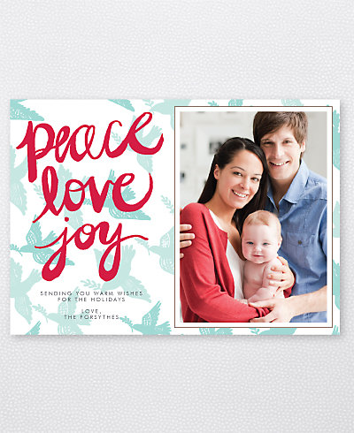 Peace Doves Holiday Photo Card