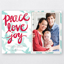 Peace Doves: Holiday Photo Card