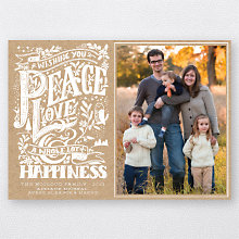 Peace, Love and Happiness: Holiday Photo Card
