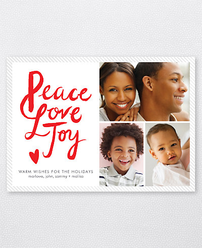 Peace, Love, Joy Holiday Photo Card
