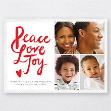 Peace, Love, Joy: Holiday Photo Card