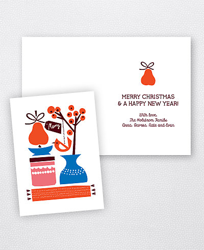 Pear Tree Holiday Card