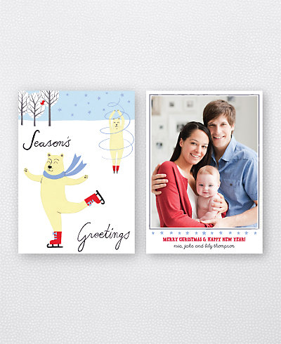 Polar Pirouette Holiday Photo Card