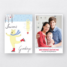 Polar Pirouette: Holiday Photo Card