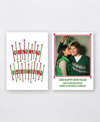 Season's Salutations Holiday Photo Card